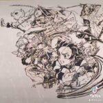【一発描き】鬼滅の刃血風剣戟ロワイアルのイメージ画を筆ペンなどで一発描きしました‼️